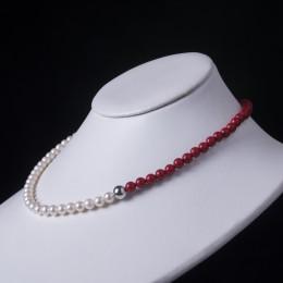 Collana Perle e Corallo