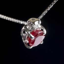 Pendente Rubino e Diamante