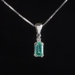 Pendente Smeraldo e Diamante
