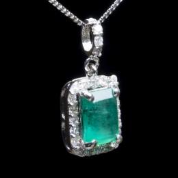 Pendente Smeraldo e Diamante 2