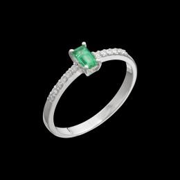 Anello Smeraldo e Diamante