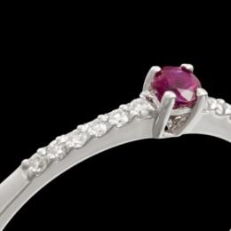 Anello Rubino e Diamante