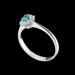 Anello Smeraldo e Diamante 2