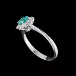 Anello Smeraldo e Diamante 3