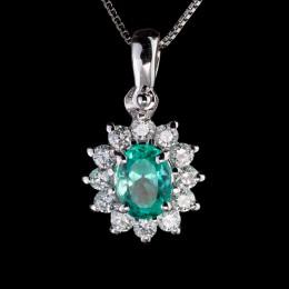 Pendente Smeraldo e Diamante 3