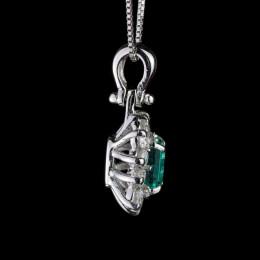 Pendente Smeraldo e Diamante 4