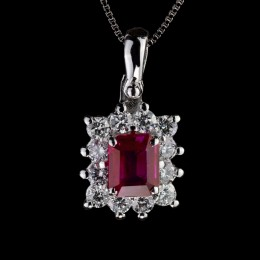 Pendente Rubino e Diamante 2