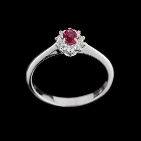 Anello Rubino e Diamante 2