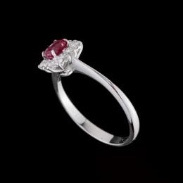 Anello Rubino e Diamante 3